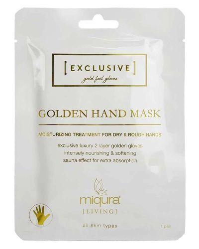 Miqura Living White Musk Golden Hand Mask (1 stk) håndmaske