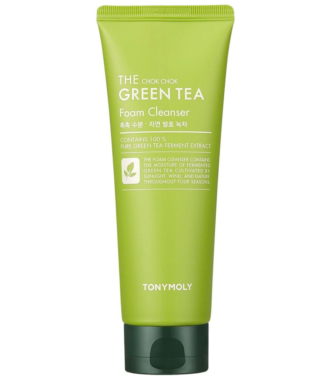 k-beauty TONYMOLY The Chok Chok Green Tea Foam Cleanser 200ml