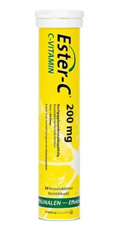 Ester-C 200 mg - 20 brusetabl. c vitamin brusetabletter