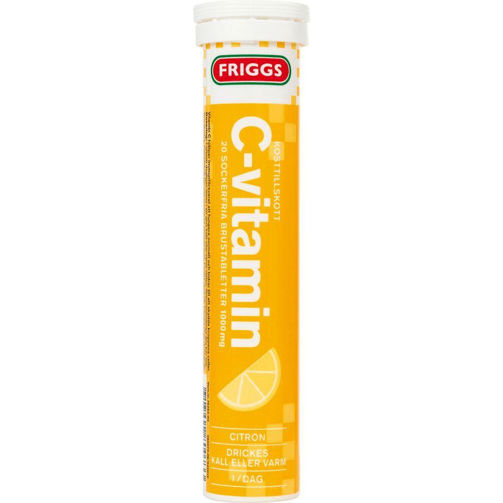 Friggs C-vitamin, Citron - 20 brusetabl. c vitamin brusetabletter