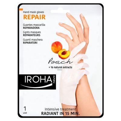 Iroha Peach Hand Mask (1 stk) Håndmaske