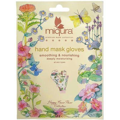 Miqura Flower Hand Mask 1 Pair Håndmaske