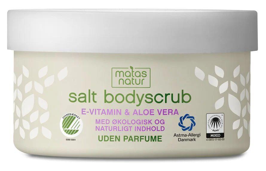 salt body scrub MATAS NATUR Aloe Vera & E-vitamin Salt Bodyscrub
