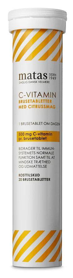c vitamin brusetabletter   MATAS STRIBER C-vitamin 500 mg 20 brusetabl.