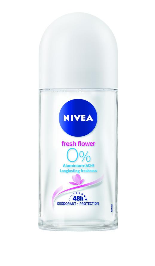 NIVEA Deo Roll-on Flower uden Aluminium 50 ml Deodorant uden aluminium
