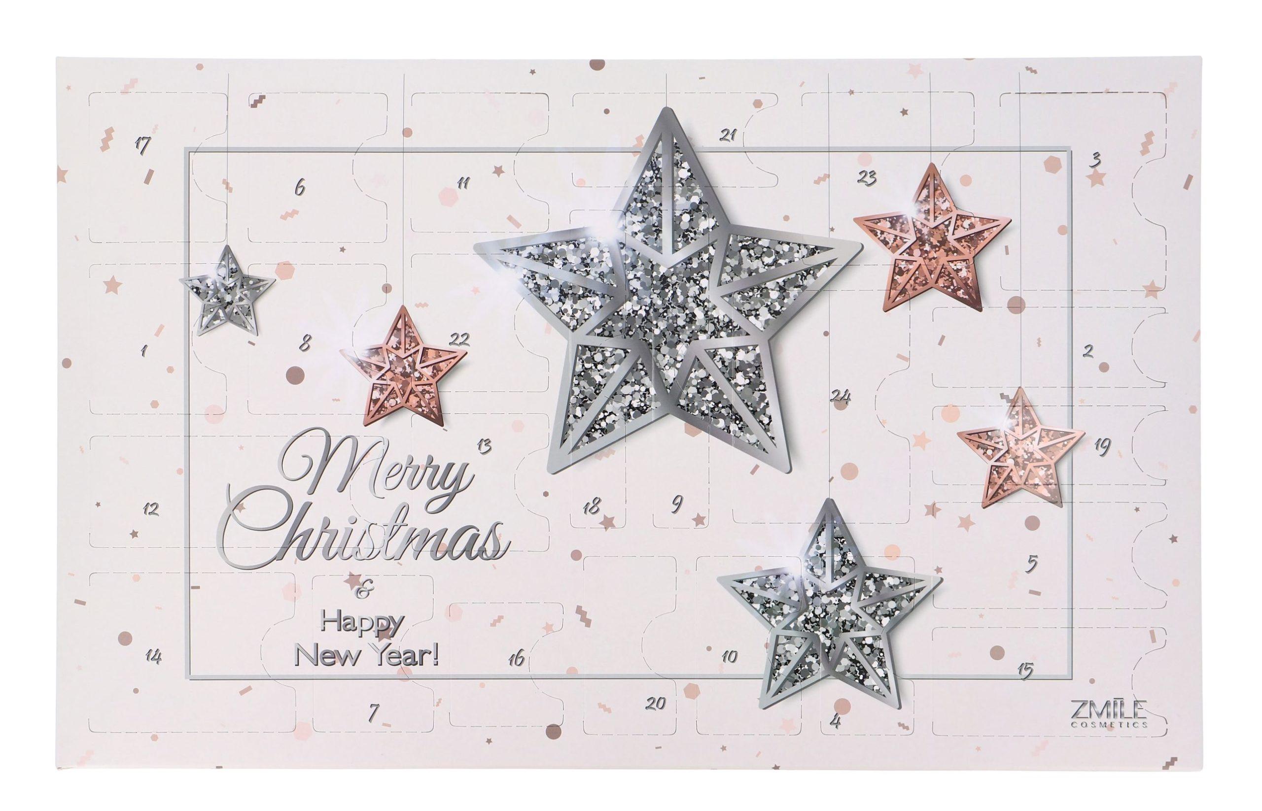 ZMILE COSMETICS - Advent calendar Glowing Stars rose gold/silver  makeup julekalender 2021